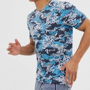 T-shirt by Nike Running retro and blue camo